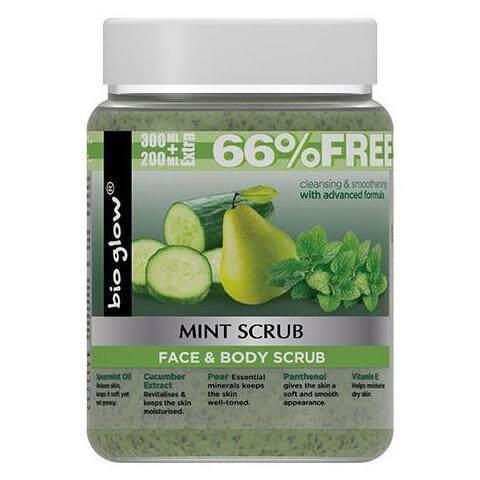 BIO GLOW Mint Face And Body Scrub 500 ml