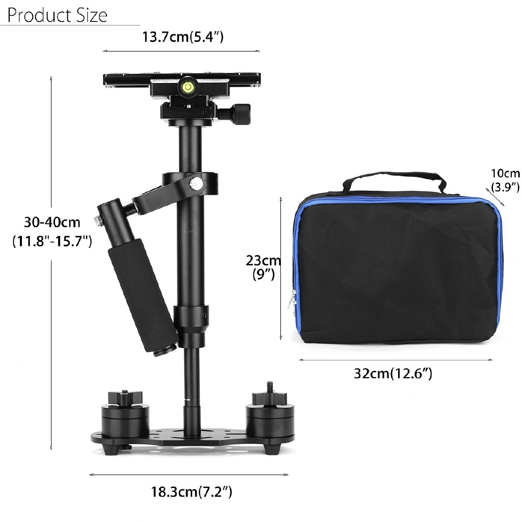Gimbals and Stabilizers - S40+ Pro Gradienter Handheld Stabilizer Steadycam For DSLR Camera HDV Camcorder - Camera Accessories