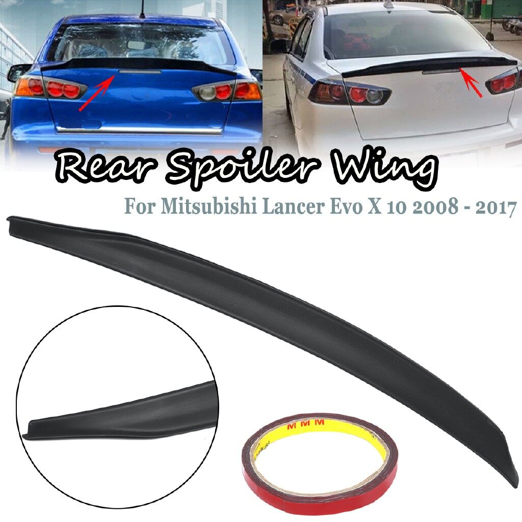 Engine Parts - 1 PIECE(s) Rear Spoiler Wing Car Rear Trunk Lip Spoiler Wing Black For Mitsubishi Lancer Evo X 10 - Car Replacement