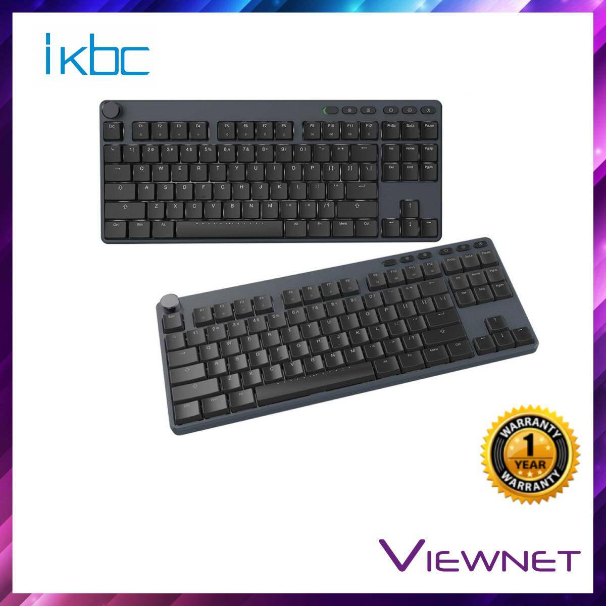 IKBC Gaming Wired X400 Cherry MX Low Profile Red Switch Keyboard
