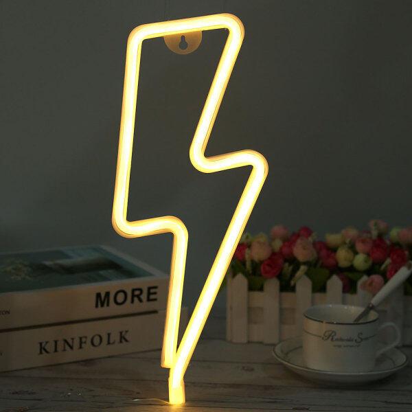 Bảng giá Sáng Tạo LED Neon Ánh Sáng Lightning Bolt Neon Đăng Tường Ánh Sáng Neon Lights Đối Với Trang Chủ Đảng Giáng Sinh