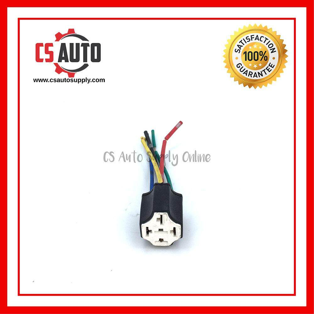 [cs auto] 5pin Relay Socket Holder Ceramic Heat Resistant Pre Wired Mounting Base Socket Holder