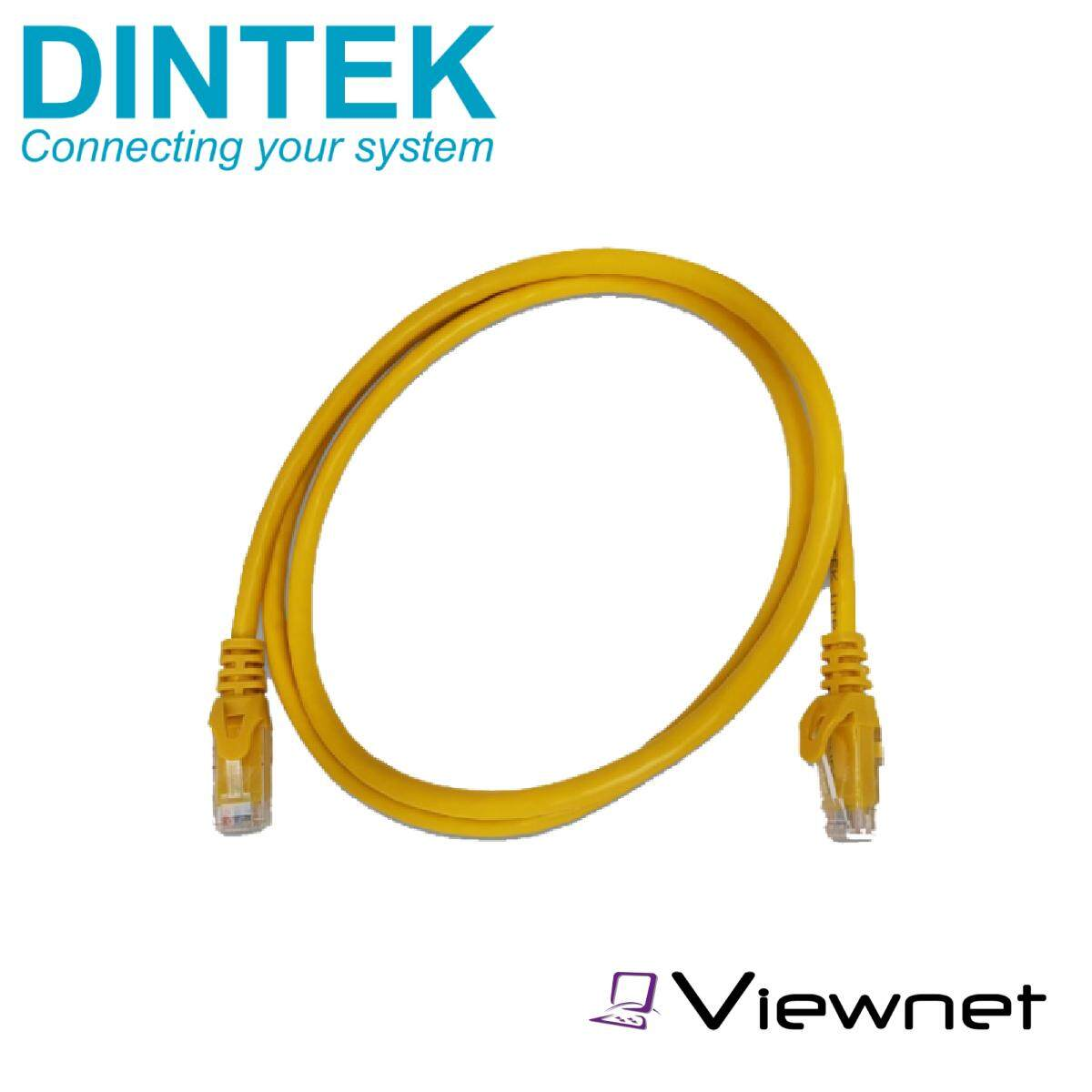 Dintek CAT6 3 Meter Cable Patch Cord (Black/Grey/Orange/Purple/Red/White/Yellow)