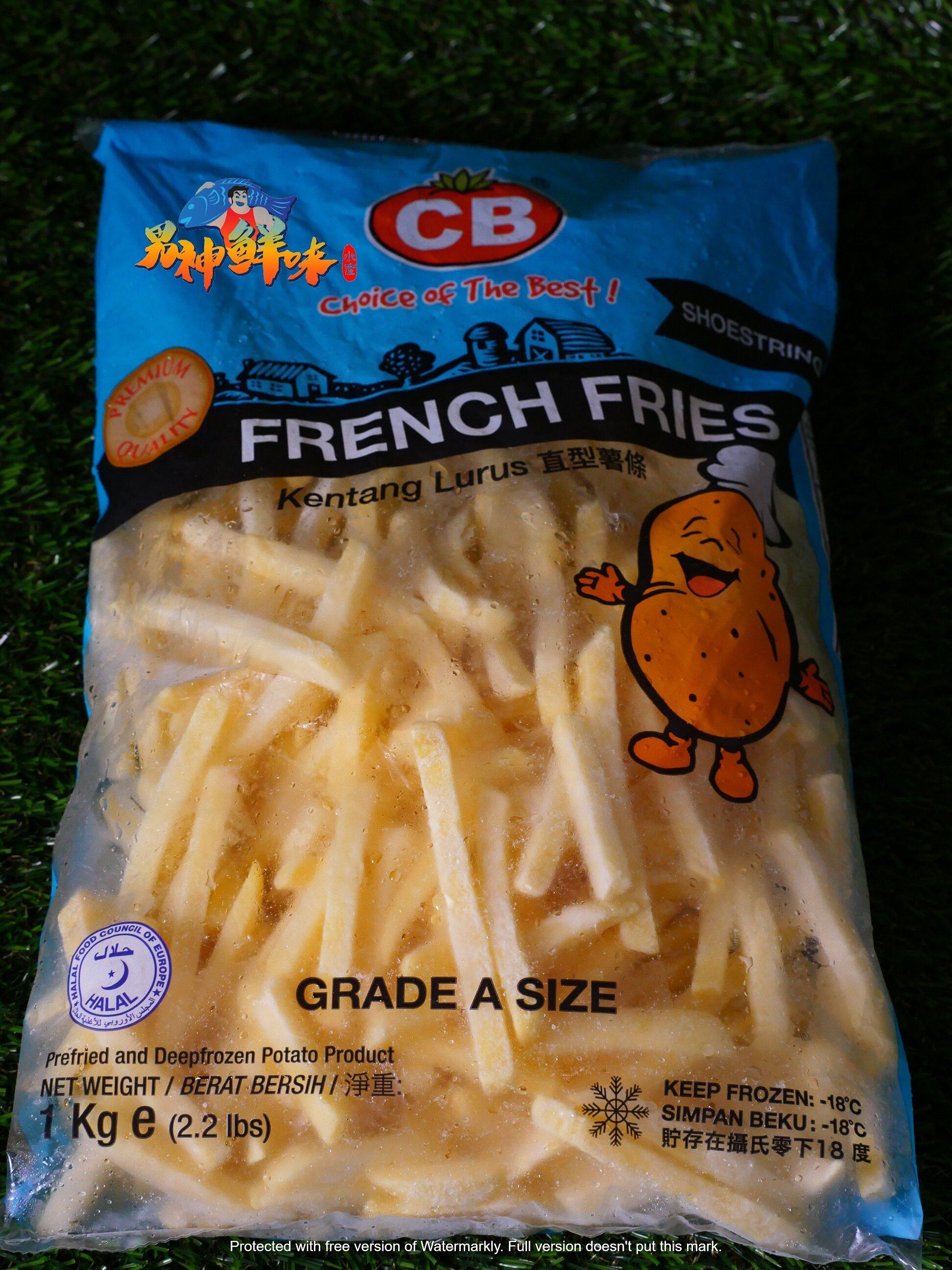 CB FRENCH FRIES SHOESTRING 1KG 直条型薯条