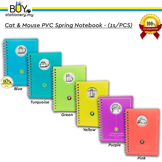 Cat & Mouse PVC Spring Notebook - (1s/PCS)