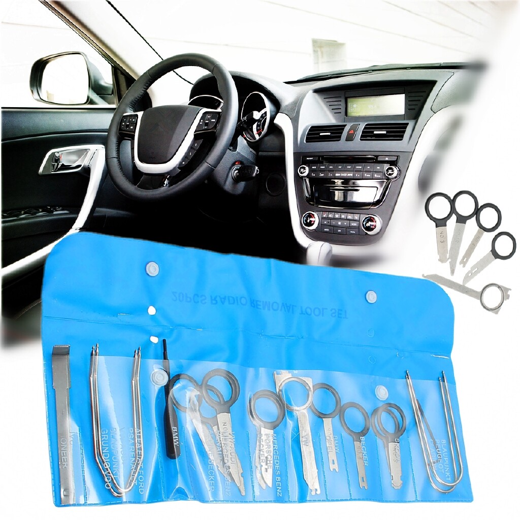 Car Lights - 20 PIECE(s) Car Stereo Radio Head CD Unit Audio DVD Removal Tools Key Pin Kit SET - Replacement Parts