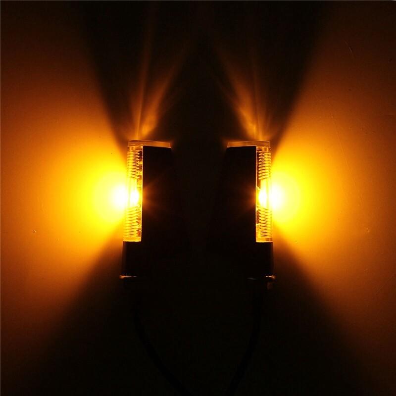 Car Lights - LED Motorcycle Motorbike Turn Signal Light Indicator Blinker Amber Light Lamp - Replacement Parts
