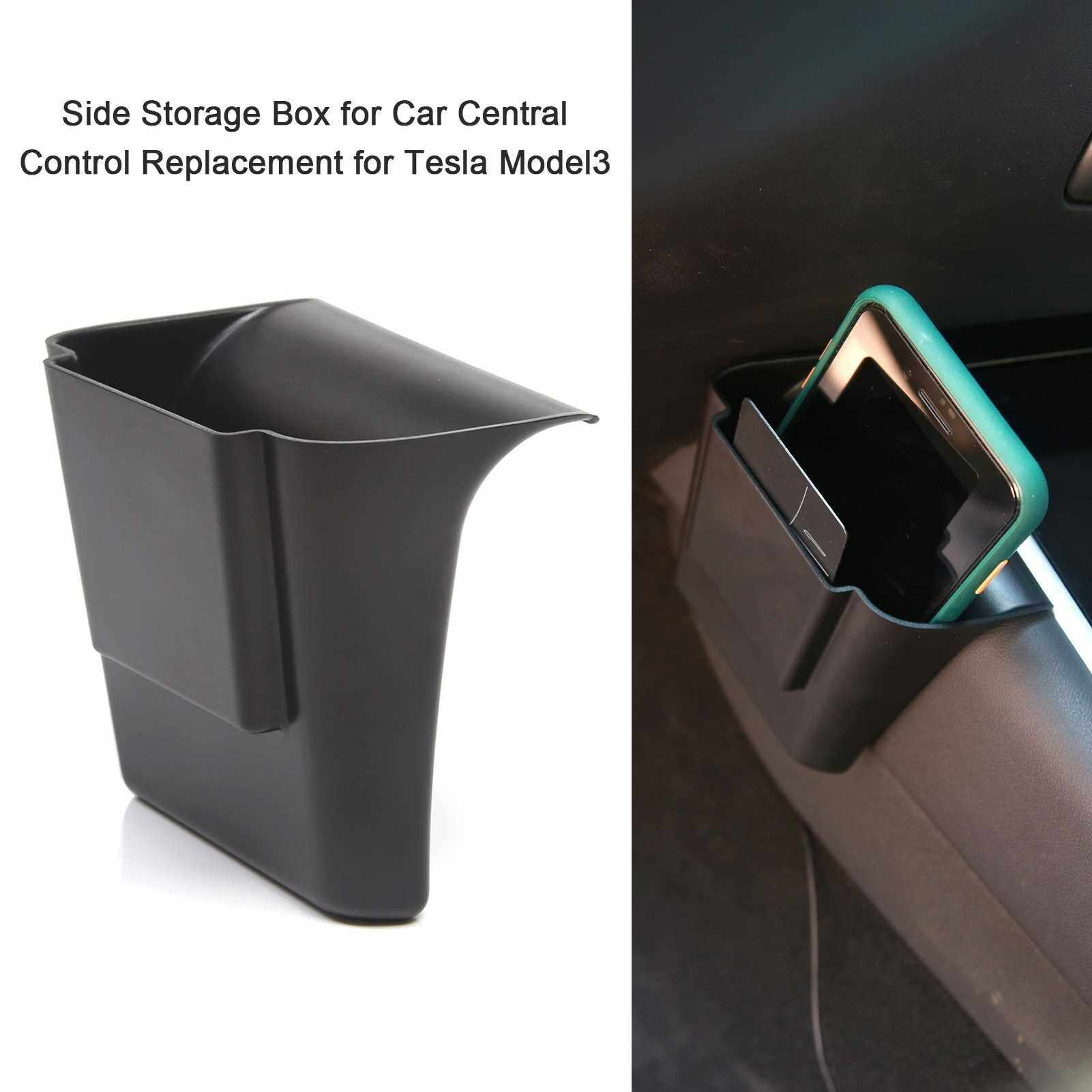 People's Choice Side Storage Box for Car Central Control Side Interior Modification Accessories Replacement for Tesla Model3 (Standard)