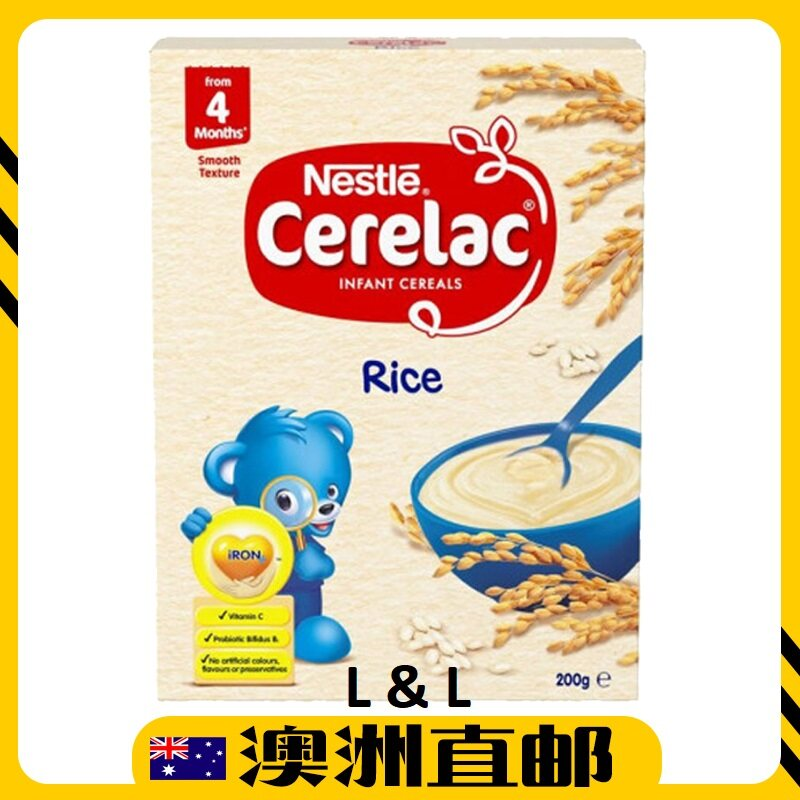 [Pre Order] Australia Import Nestle Cerelac Infant Cereal  Baby Rice 4mths+ ( 200g ) (Made In Australia)