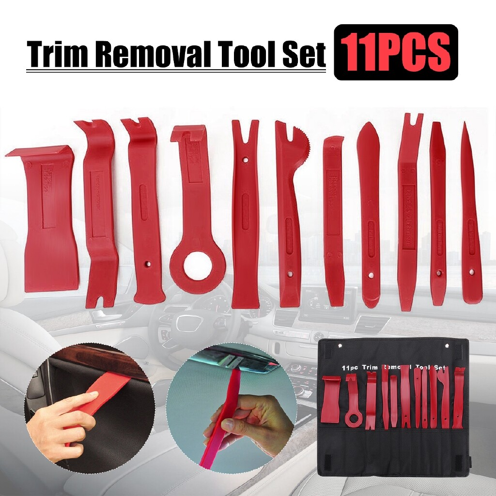 Automotive Tools & Equipment - 11 PIECE(s) Trim and Moulding Removal Garage Pro Tools SET Pry Radio Car Van - Car Replacement Parts