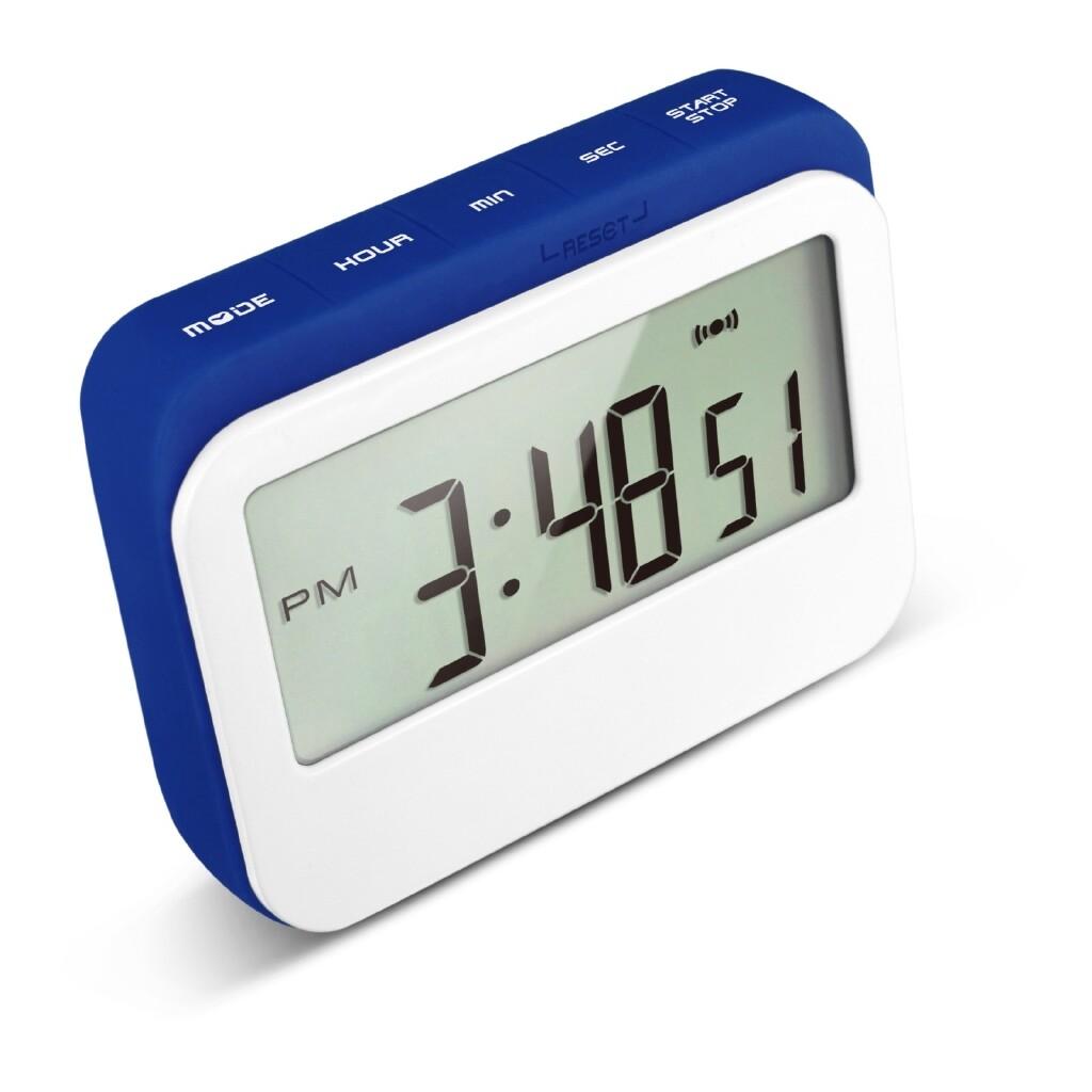 Clocks - Magnetic Digital Timer C/W Back Stand Timer Alarm Clock - GREY / BLUE