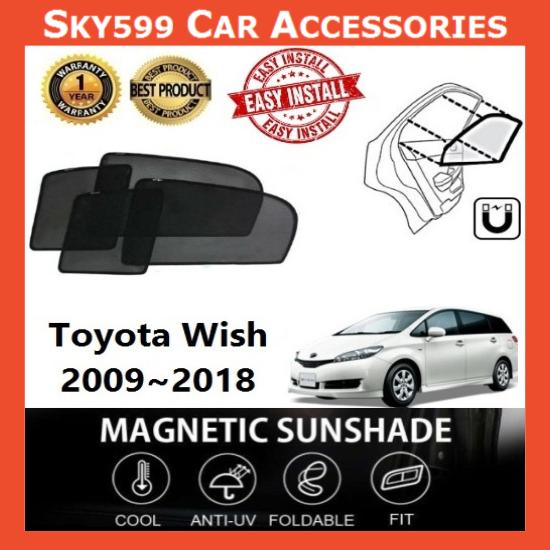 Toyota Wish 2010-2020 Magnetic Sunshade 【6pcs】
