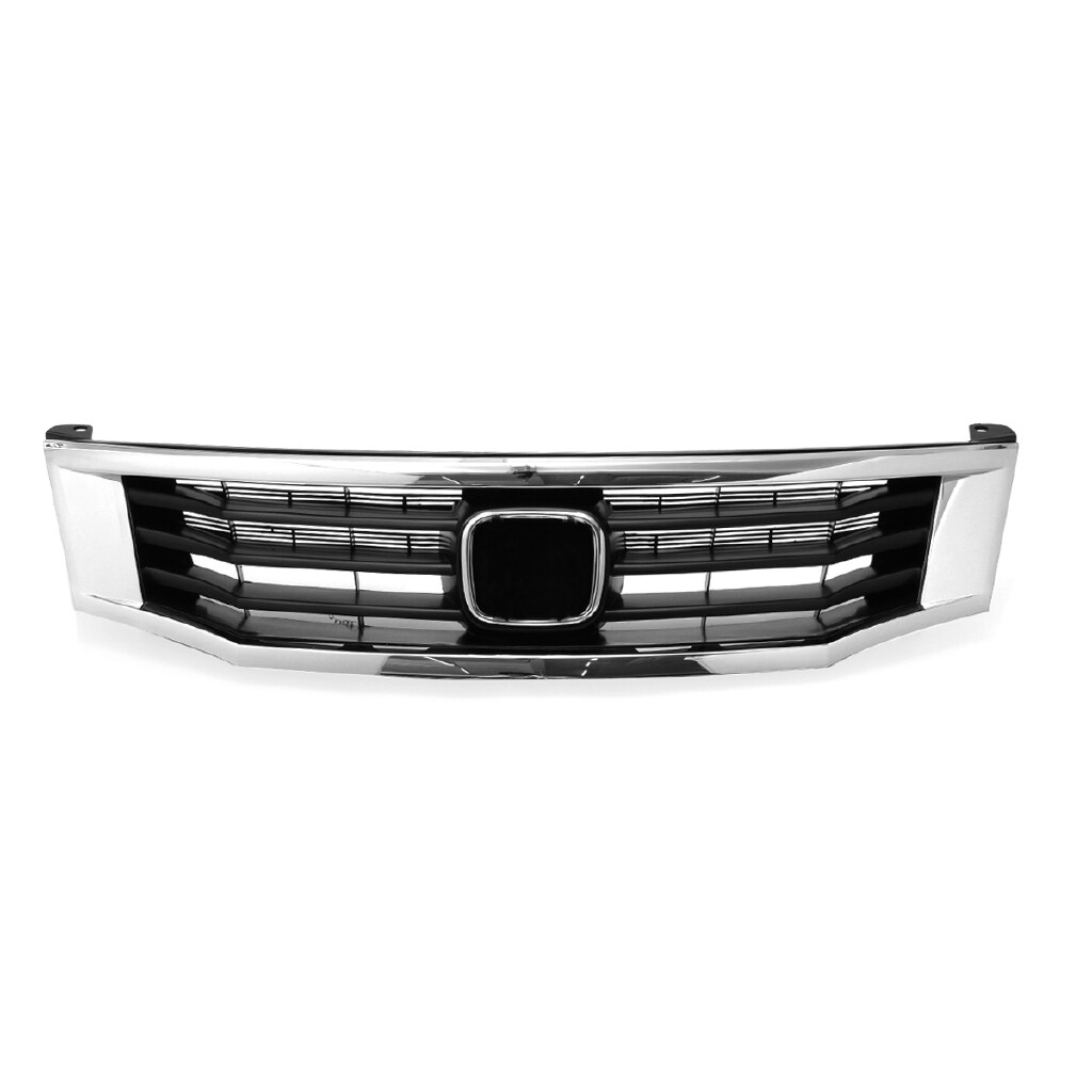Automotive Tools & Equipment - Primed Front Bumper Hood Grille Molding Covers Trims For Honda Accord 2008- 2010 - Car Replacement Parts