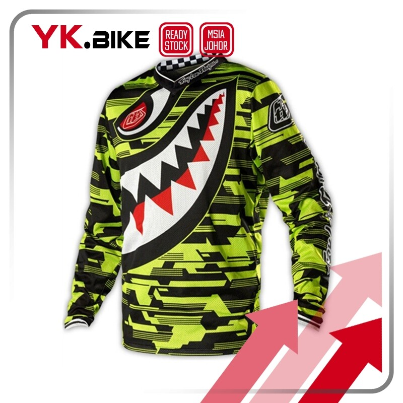 YKBIKE [LOCAL READY STOCK] Downhill Jersey Long Sleeve Bicycle Clothing Motocross Jersey MTB T-shirt Quick Dry Wear APL41