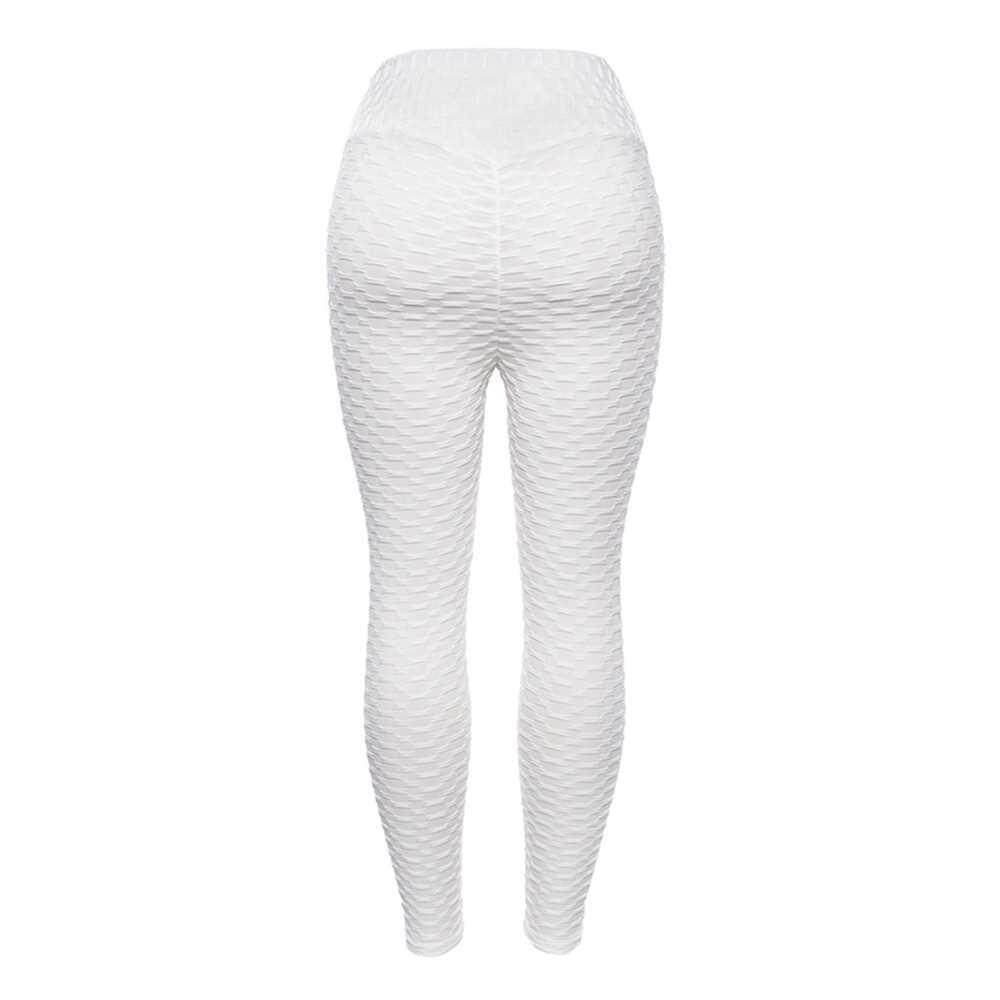 Women Solid Color Stretch Seamless Yoga Pants (white)