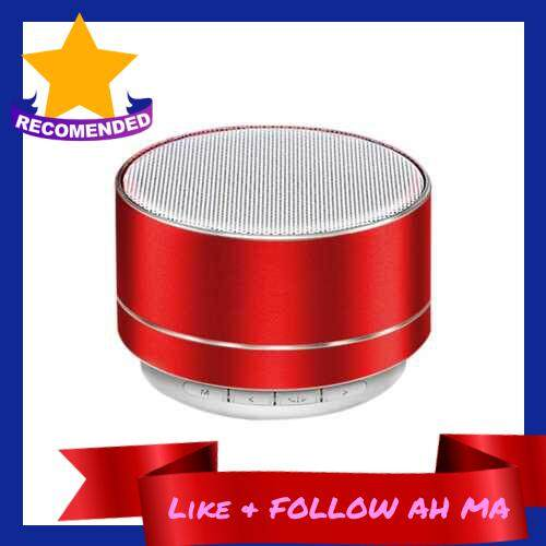 Best Selling Rechargeable Portable BT Speaker Pluggable headset AUX Mini Speaker Music Audio Playing Time,TF Card Slot for Home, Travel (Red)