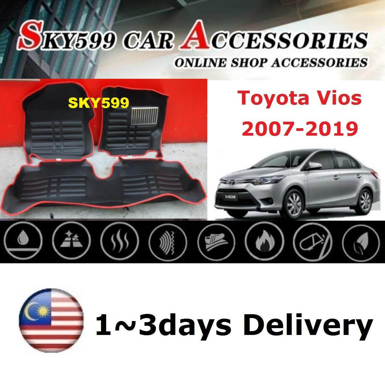 Toyota Vios 2007-2019 5D Car Floor Mat/Carpet