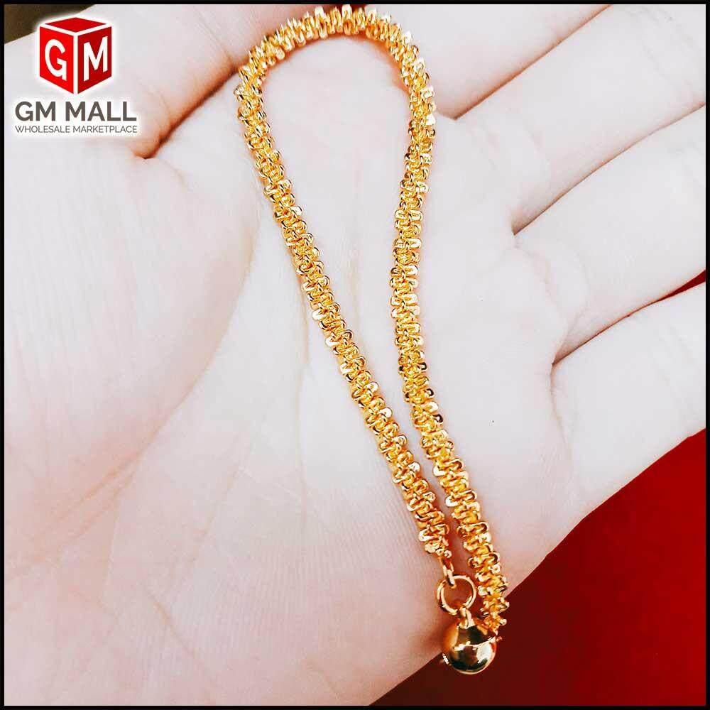 Emas Korea Jewellery - Rantai Tangan Bulu M (EK-2031-6)
