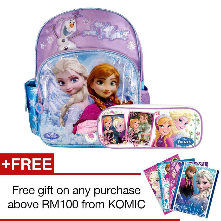 Disney Frozen School Bag With Pencil Bag Set