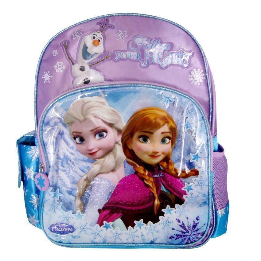 Disney Frozen School Bag With Pencil Bag Set Purple