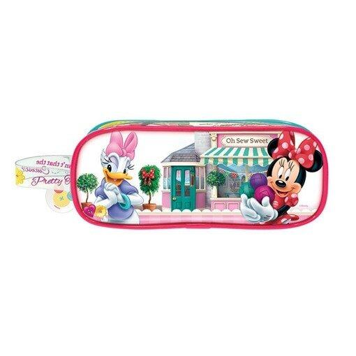 Disney Minnie Square Pencil Bag Set - Pink Colour