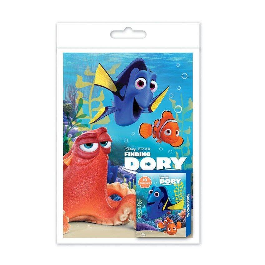 Disney Pixar Finding Dory Colouring Book With Crayon Set - Blue Colour