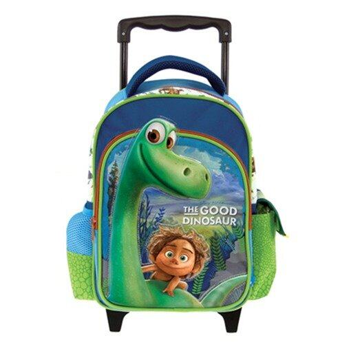 Disney Pixar The Good Dinosaur School Trolley Bag 12 Inches - Green Colour