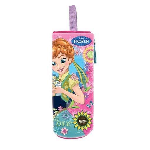 Disney Princess Frozen Fever Round Pencil Bag - Pink Colour