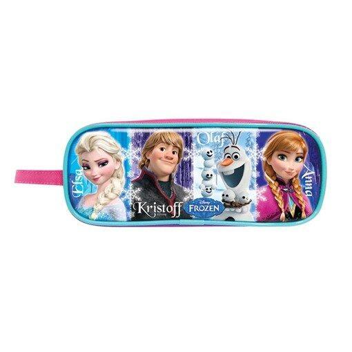Disney Princess Frozen Square Pencil Bag - Blue And Pink Colour