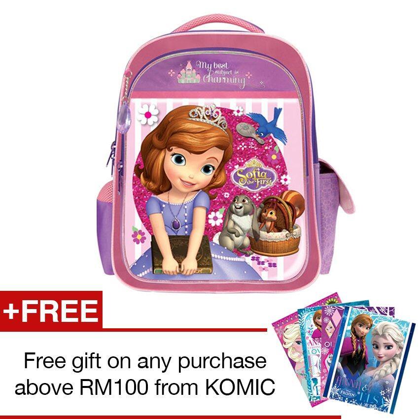 Disney Princess Sofia School Bag - Purple Colour