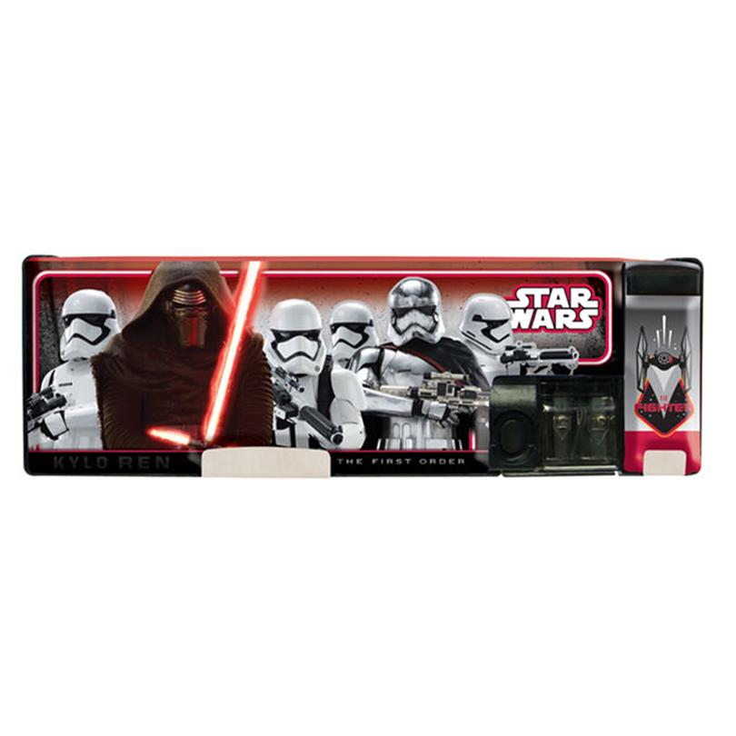 Disney Star Wars Magnetic Pencil Case - Black Colour