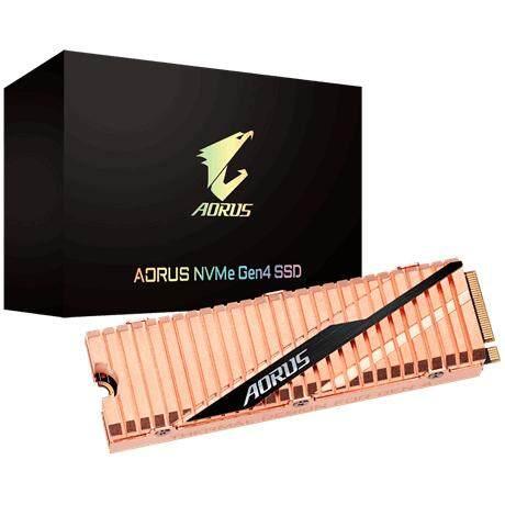 Gigabyte Aorus M.2 PCIE GEN4 NVME 500GB/1TB/2TB SSD Solid State Drives (GPGP-ASM2NE6500GTTD/GP-ASM2NE6100TTTD/GP-ASM2NE6200TTTD)