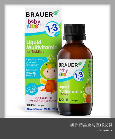 [Pre Order] Brauer Baby & Kids Toddler Liquid Multivitamin ( 100ml ) (Made In Australia)