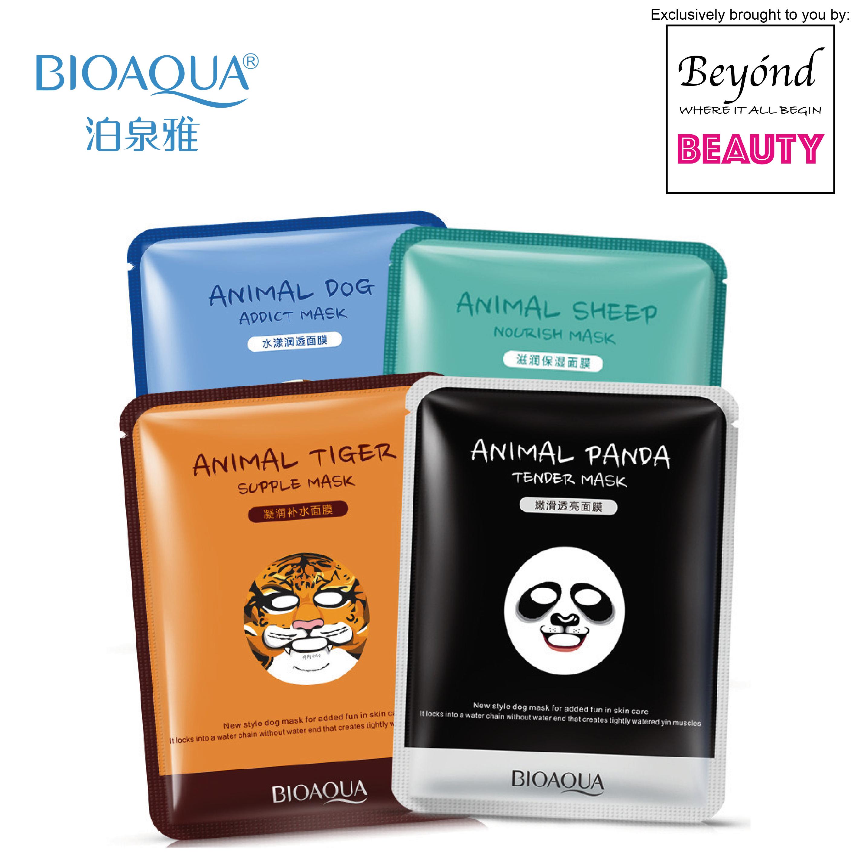 BIOAQUA Cute Animal Face Masks - Nourish Sheep / Tender Panda / Addict Dog / Supple Tiger