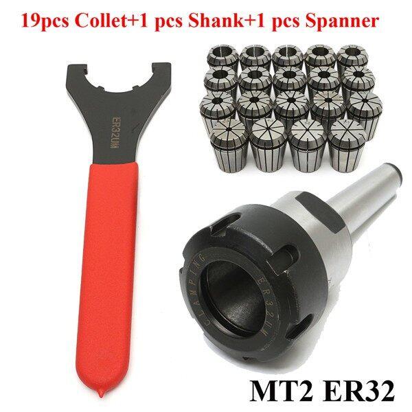 Car Lights - MT2 ER32 M10 Collet Chuck Morse Taper Holder & 19x ER32 Spring Collets & Case - Replacement Parts