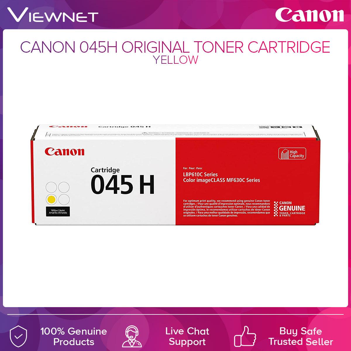 Canon 045H ORIGINAL TONER CARTRIDGE Black  Cyan  Magenta  Yellow