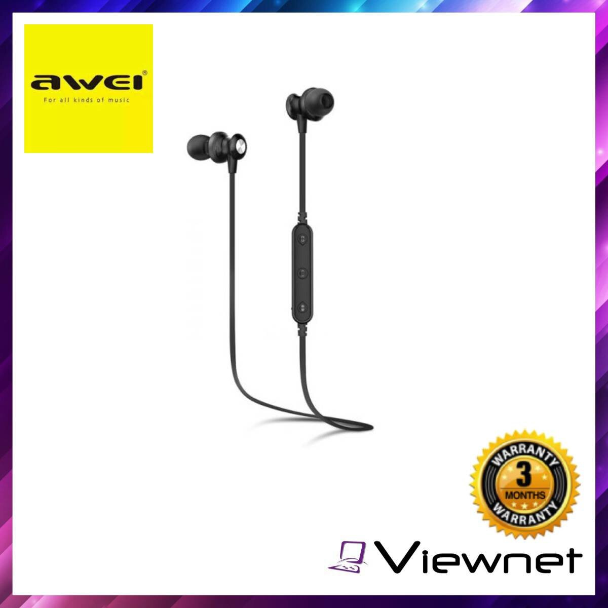 Awei B980BL Wireless Bluetooth Earphones, Sports Magnetic, Noise Cancellation