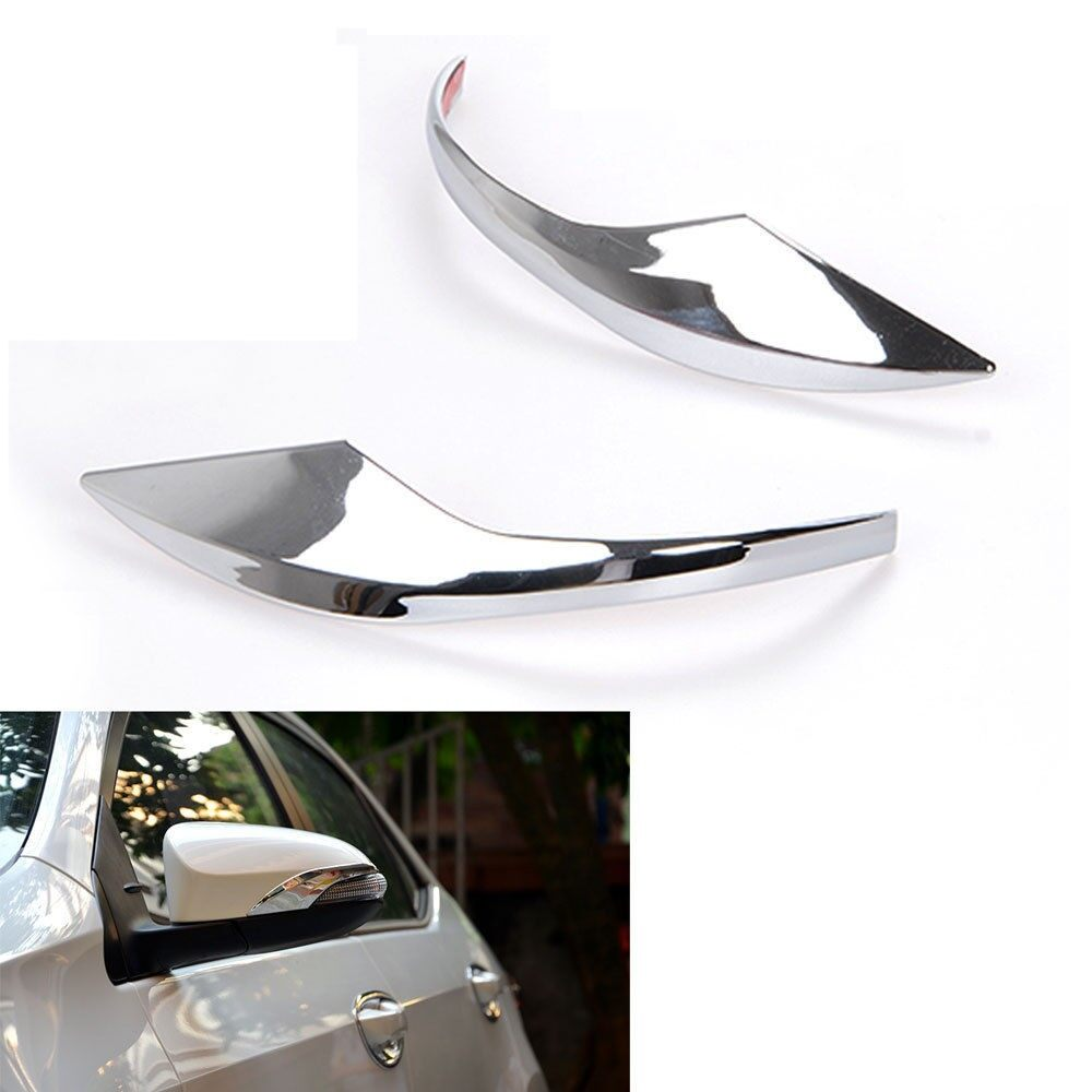 Tyres & Wheels - Chrome Car Side Door Rearview Mirror Cover Trim Mirrors Strips For 14-16 Corolla - Car Replacement Parts