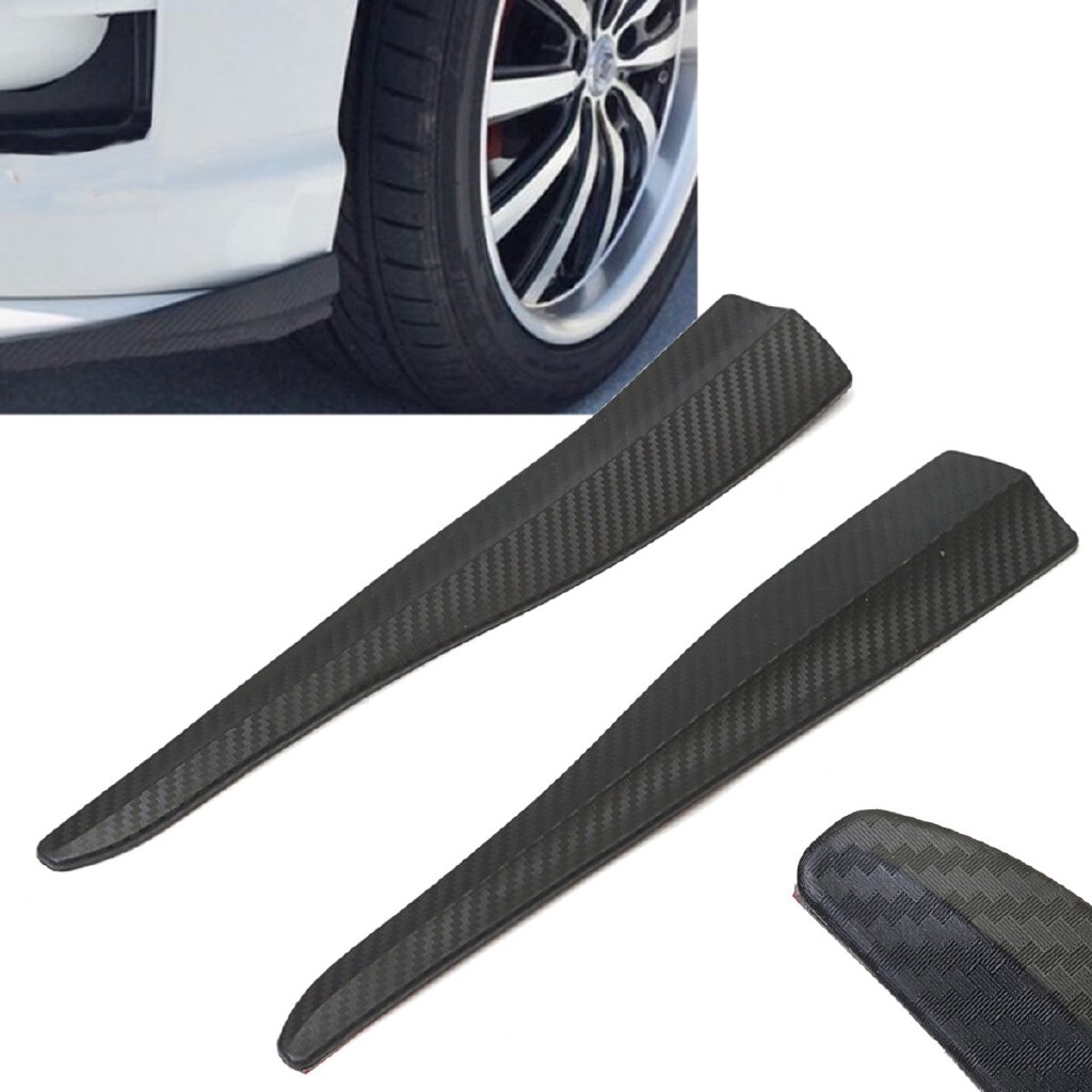 Car Lights - 2 PIECE(s) Carbon Fiber Scratch Edge Guard Protector Car Mouldings Bumper Corner Strip - Replacement Parts