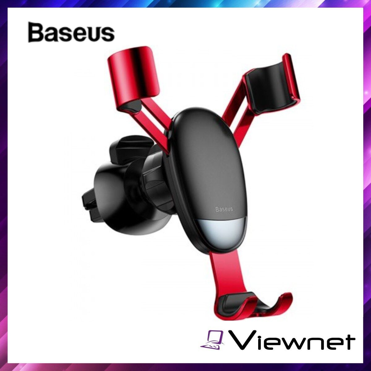 Baseus Mini Gravity Mini Car Phone Holder, Gear-Free Design, Firm and noise free, Alloy, Applicable to Various Phones, Black / Red / Silver