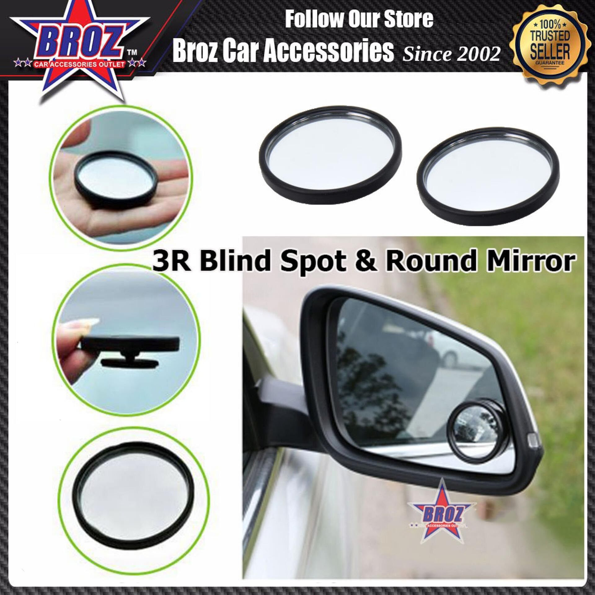 3R Car Truck Blind Spot & Round Mirror