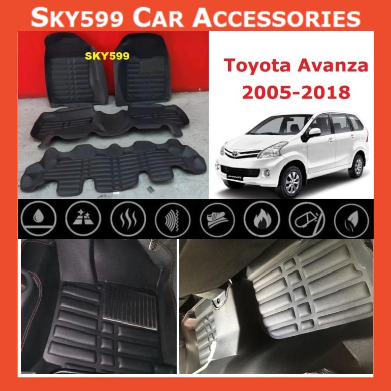 Toyota Avanza 2005-2020 5D Car Floor Mat/Carpet