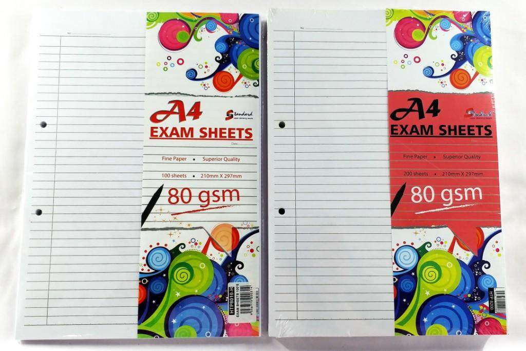 STANDARD HTP8200 200's A4 80gms EXAM SHEETS x 2packs