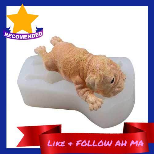 Best Selling 3D Shar Pei Dog Silicone Cake Baking Mold Pans Decoration