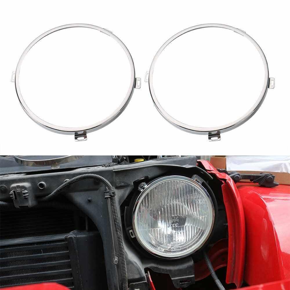 Best Selling Car Front Head Light Mount Brackets Install Support Exterior Holder for Jeep Wrangler 2007-2017 (Standard)