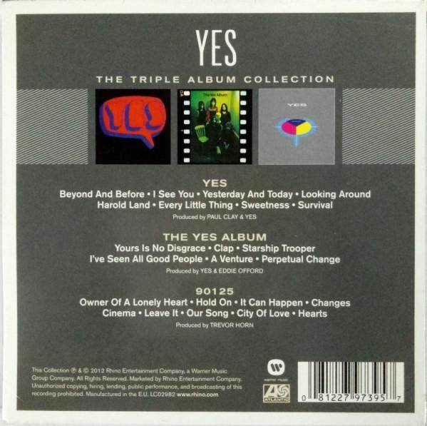 YES The Triple Album Collection Imported CD Yes / The Yes Album / 90125