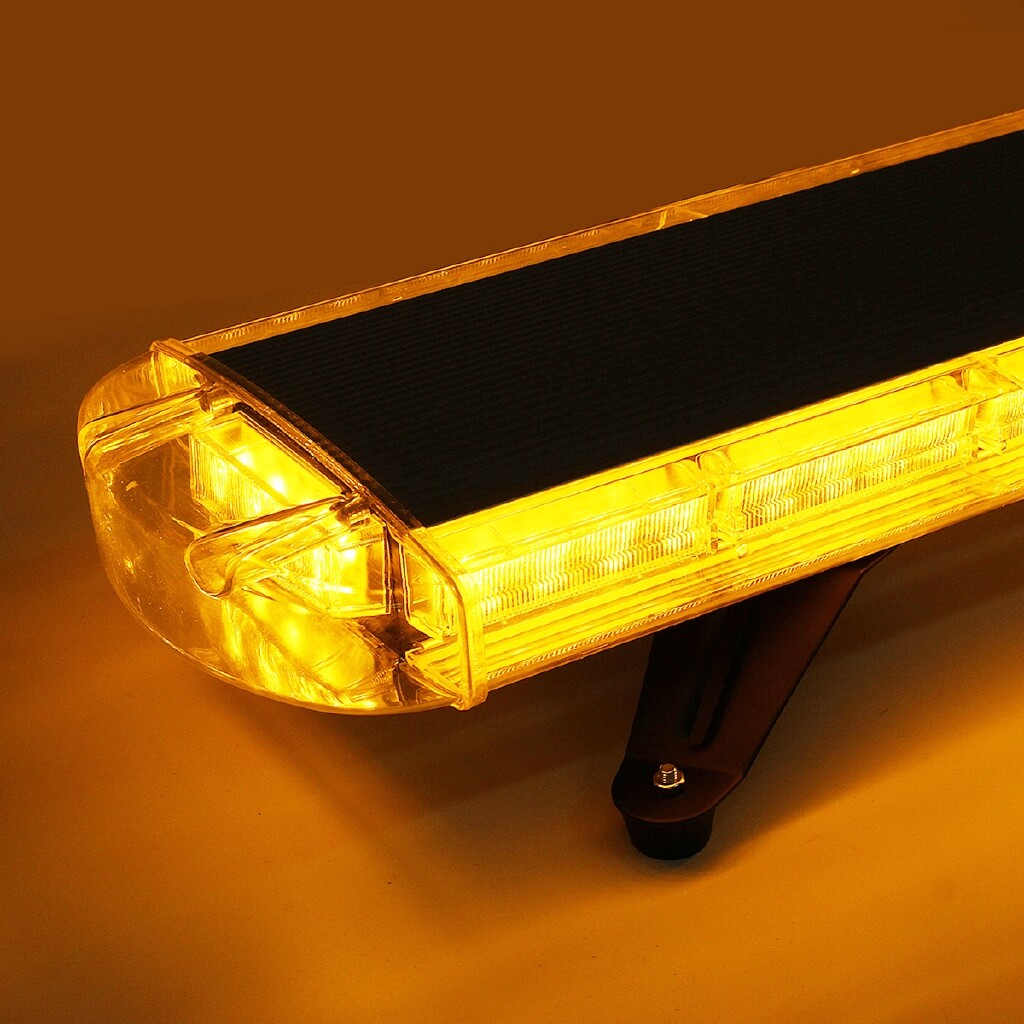Car Lights - 72W 72 LED Car Warning Light Bar Strobe Beacon Recovery Lamp Amber 97CM 12V/24V - Replacement Parts