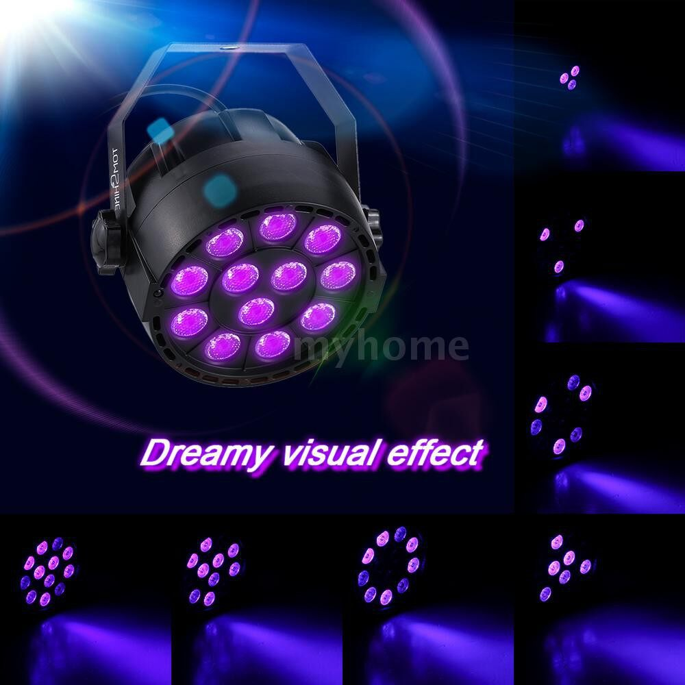 Lighting - 15W 12 LEDs UV Stage Par Light AC-220V Support Auto Sound DMX512 Master-slave 8 - Home & Living