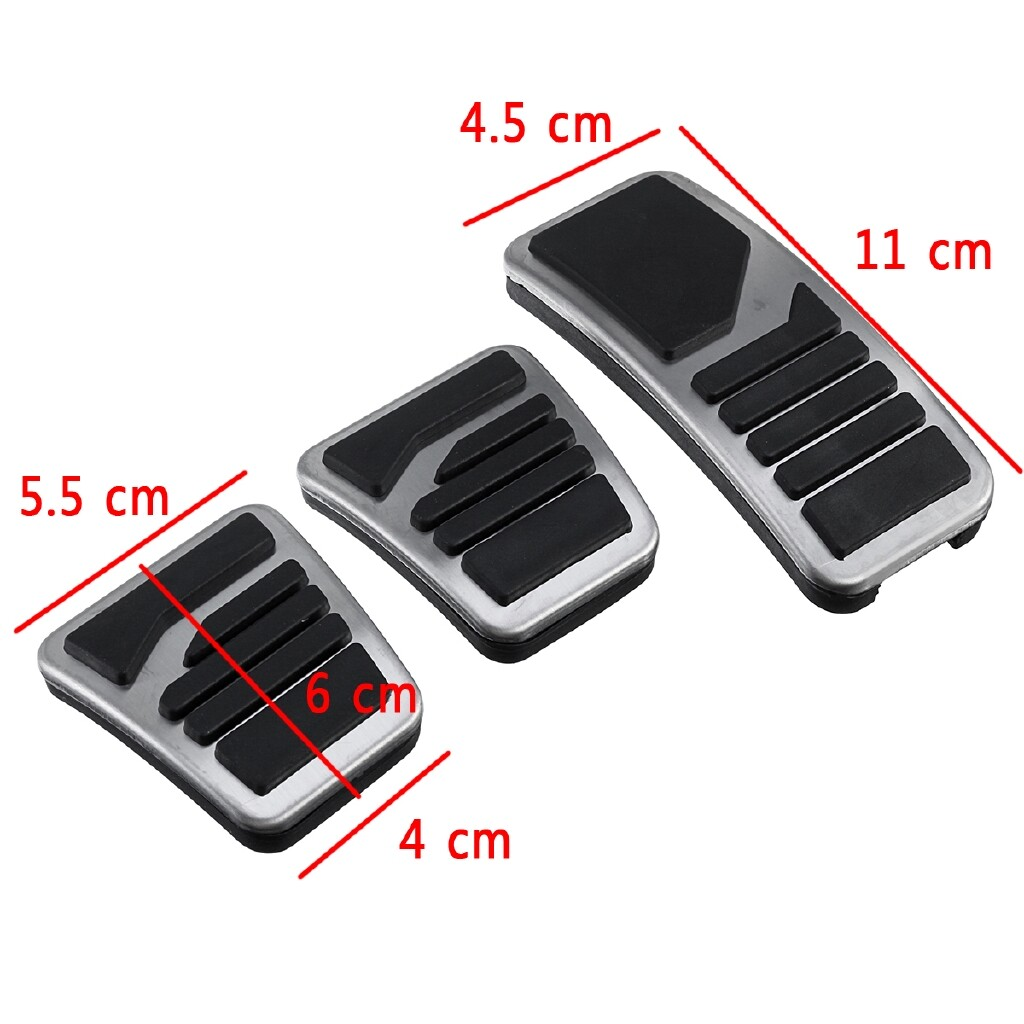 Brake Systems - 3 PIECE(s) Manual MT Clutch Brake Pedal Non-Slip Metal ABS For Mitsubishi All Series - Car Replacement Parts
