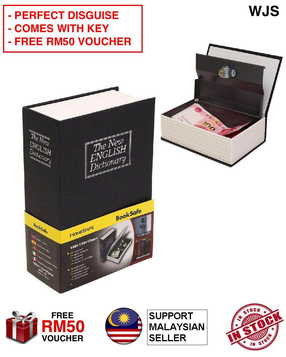 (PERFECT DISGUISE) WJS Home Safe Dictionary Secret Locker Book Secret Locker Book Safe Diversion Secret Hidden Security Homesafe Dictionary Stash Booksafe Book Safe Lock & Key [FREE RM50 VOUCHER]